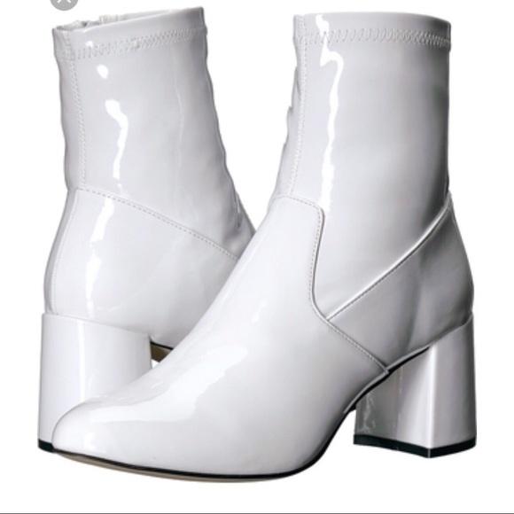 8ac199925fb Steve Madden Sania white patent boots. M 5abff813a44dbe0d45104daa